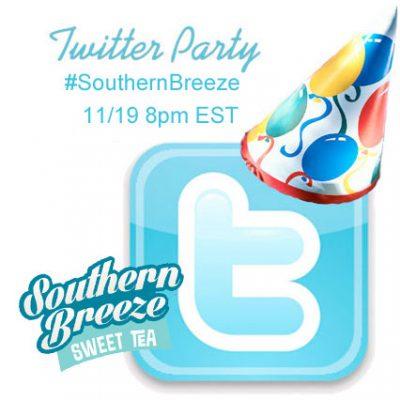 Twitter Party 11/19 8pm EST #SouthernBreeze