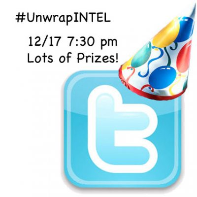 Twitter Party 12/17 @ 7:30pm EST #UnwrapINTEL