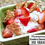 Homemade Strawberry Cheesecake Ice Cream Recipe