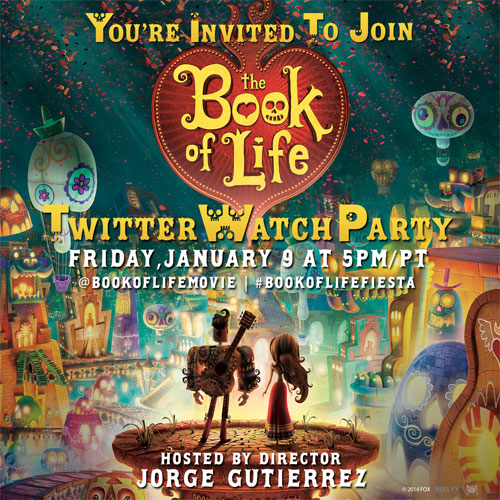 Twitter Party 1/9 @ 8:00 pm BookOfLifeFiesta : Win a Digital Copy