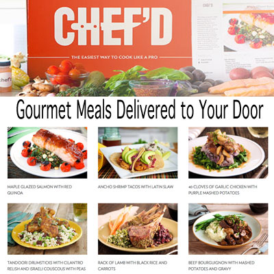Gourmet food delivered to my door with chefd for Gourmet meals to make at home