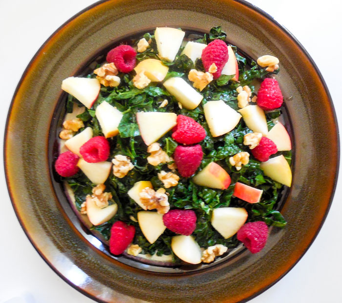 Lemony Apple and Raspberry Salad Recipe