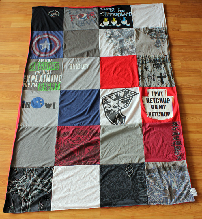 Project Repat T-Shirt Quilt Blanket Preserving Memories : repat quilts - Adamdwight.com