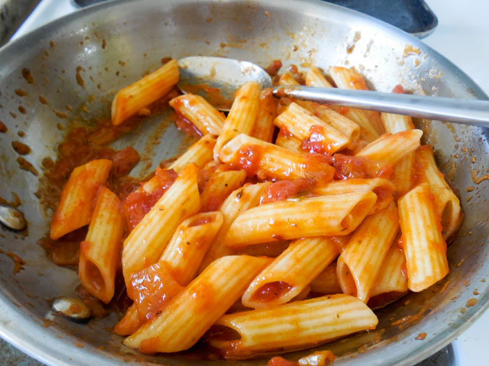 Spicy Marinara Penne Pasta Recipe