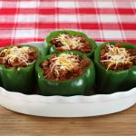 Sweet Hickory Pulled Pork Stuffed Peppers