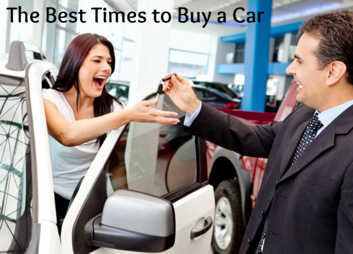 Happy woman buying a new car and salesman handling keys