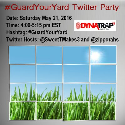 Twitter Party #GuardYourYard Twitter Party May 21 at 4pm EST