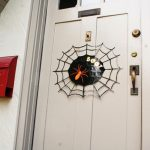 DIY Halloween Spider Web Door Sign