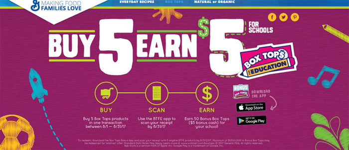 Box Tops Bonus App