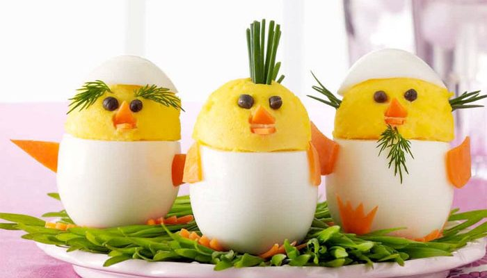 Deviled Eggs Recipe : Easter Chicks