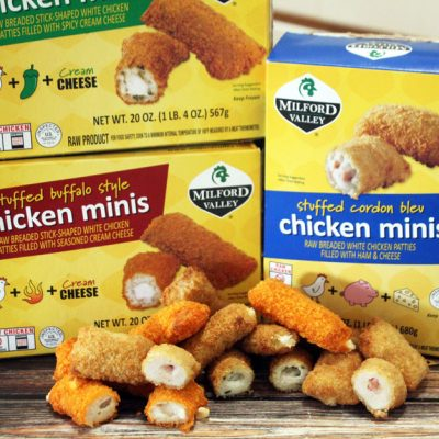 Kid Friendly Meals with Stuffed Chicken Minis