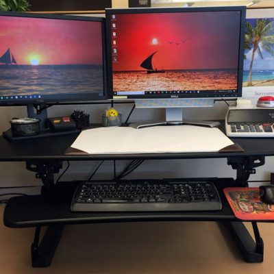 Standing Desk Converter Review from FlexiSpot