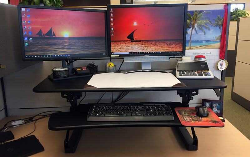 standing desk converter review flexispot